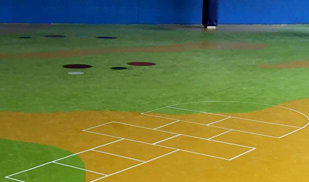 Zona de juegos en guardería de Bilbao (Bizkaia)